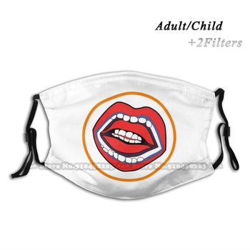 Double Set Of Teeth From  A Clockwork Orange  Anti Dust Black Mask Washable And Reusable Pm2.5 Face Mouth Ludovico Lie image