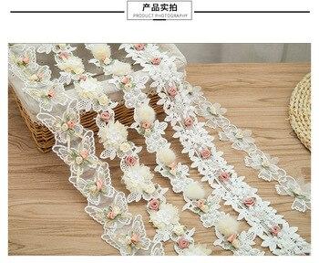 High-end industria pesada pegar cuentas de uñas encaje bordado encaje cortina de textiles para el hogar hecho a mano DIY encaje decorativo