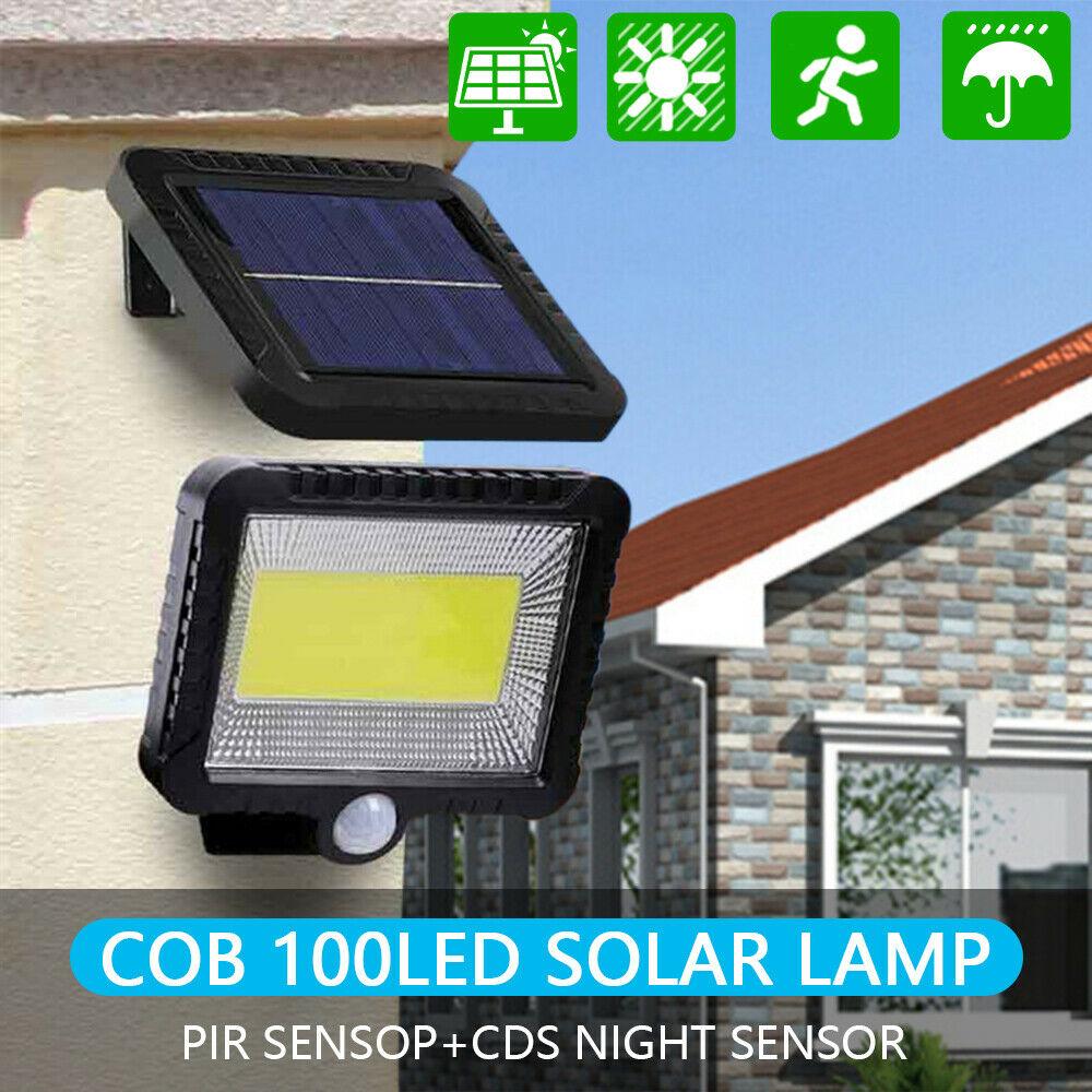 30W 100 LED Solar Light Outdoors Solar Garden Light Waterproof PIR Motion Sensor Wall Lamp Spotlights Emergency Street Lamp