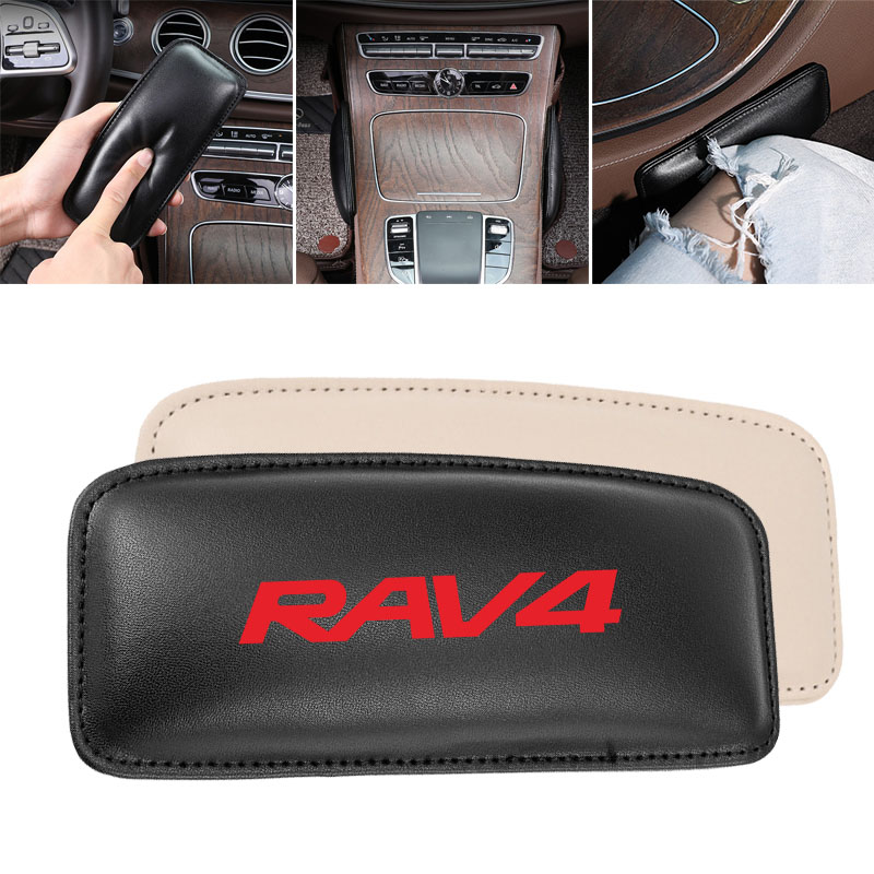 Leg Cushion Car Knee Pad for Toyota RAV 4 RAV4 Car Seat Cushion Foot Support Leather Pillow 1PC