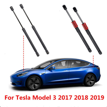 2 puntales delanteros/traseros de coche para maletero de puerta trasera de motor, descarga de resorte de Gas, puntales de elevación, soporte para Tesla Model 3 2017 2018 2019