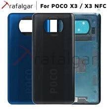 샤오미 Poco X3 후면 배터리 커버 후면 하우징 도어 케이스 POCO X3 NFC 배터리 커버 교체 수리 부품 검정색 파란색