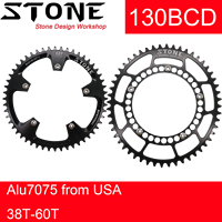 Stone Chainring 130 BCD for sram red for shimano 5700 6700 Oval Round 38 40 42 44 46 48 52 55 58T 60T Road Bike Chainwheel
