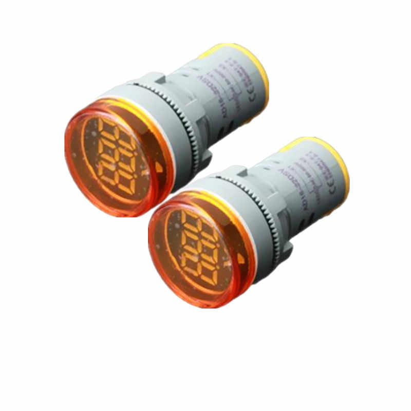 DC 6-100V LED voltímetro Digital probador de voltaje Mini 22mm agujero de apertura indicador de voltaje Monitor de luz de señal 5 colores