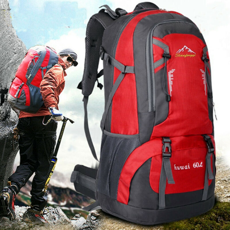 60L Outdoor Travel Hiking Camping Backpack Waterproof Rucksack Trekking Bag Pack