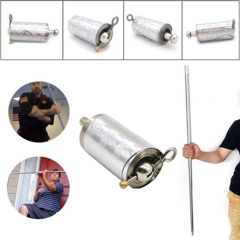 Retractable Martial Arts Bo Staff Self Defense Stick Kung Fu Monkey King Metal Magic Pocket Bo Staff Rod Pocket Accessories Tool