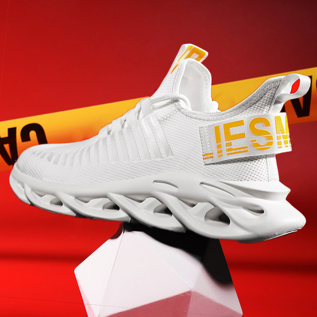 2020 new men's running shoes large size sneaker summer casual white thick bottom twist shoes comfortable breathable mesh design Uncategorized Fashion & Designs Men's Fashion