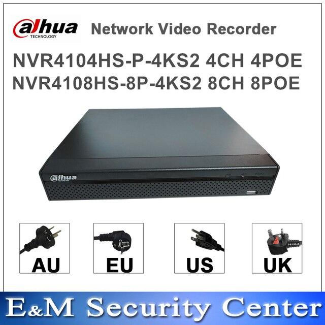 الأصلي داهوا المدمجة NVR 4/8 1U لايت شبكة مسجل فيديو NVR4104HS P 4KS2 NVR4108HS 8P 4KS2 POE mini NVR