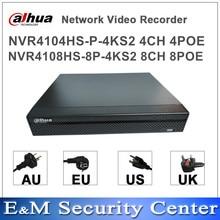 Original dahua compacto NVR 4/8 1U Lite grabador de vídeo en red NVR4104HS-P-4KS2 NVR4108HS-8P-4KS2 POE mini NVR