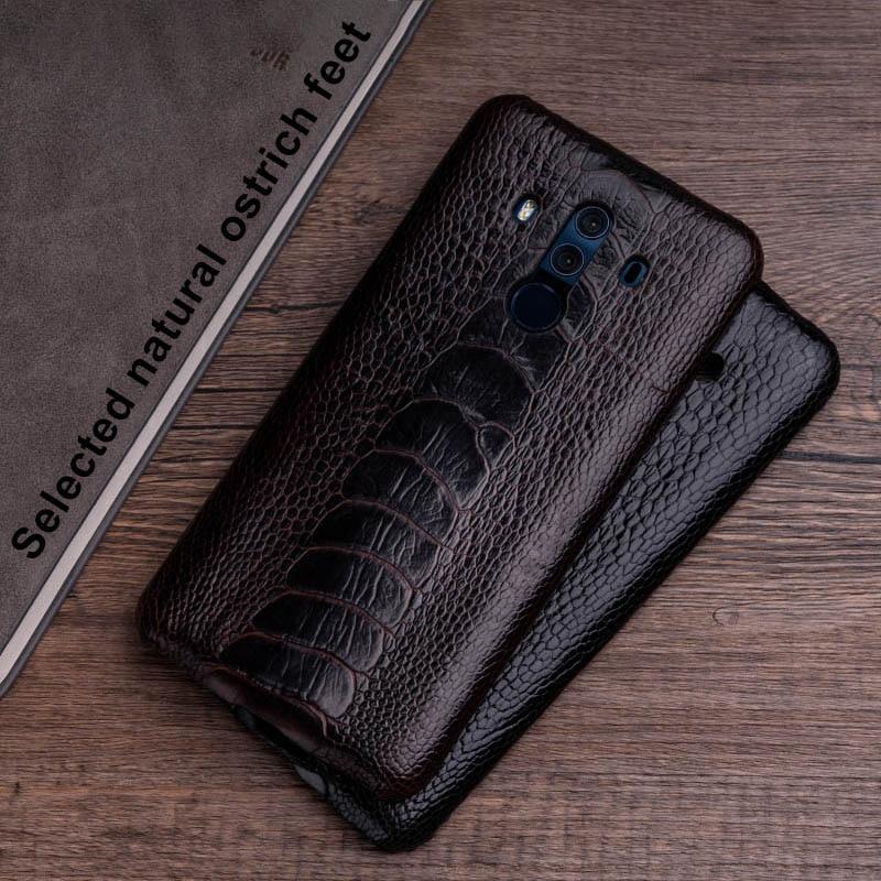 Чехол для телефона из страусиной кожи для huawei mate 20 10 9 Pro P10 P20 Lite, мягкий ТПУ чехол для Honor 8X Max 9 10 Nova 3 3i Capa - 3