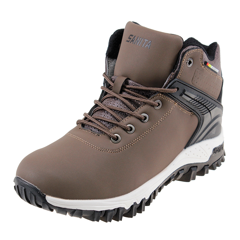 2020 New Fashion Men Boots Anti-Skidding Leather Shoes Short Plush Snow Boots Male Warm Running Sports Shoes Men Sneakers Winter