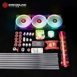 Syscooling PC комплект водяного охлаждения для AMD cpu PETG трубка Система Жидкостного Охлаждения RGB поддержка
