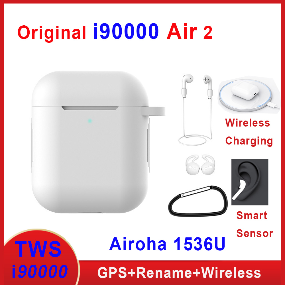 Original I90000 Air 2 Tws Earphone Rename Volume Control Wireless Bluetooth Earphones Smart Sensor PK I5000 I9000 I900000 TWS
