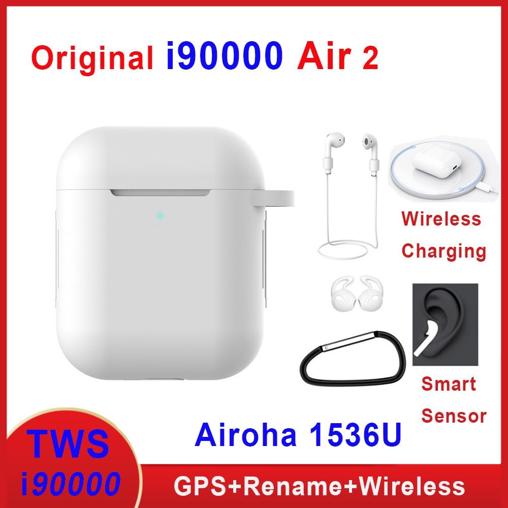 Original I90000 Air 2 Tws Earphone Rename Volume Control Wireless Bluetooth Earphones Smart Sensor PK I5000 I9000 I900000 TWS