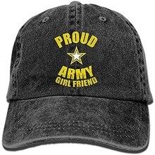 Sombrero de vaquero ajustable Vintage de la novia del ejército orgulloso sombreros de ocio para adulto