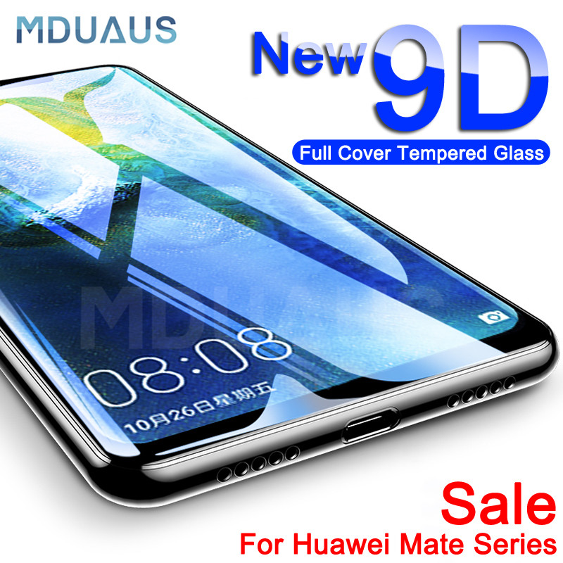 9D Protective Glass On The For Huawei Mate 20 Lite 20X Pro Mate 10 Pro 9 Lite P Smart 2019 Tempered Screen Protector Glass Film