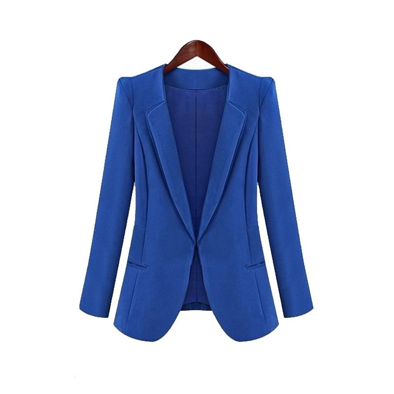 Hot New Spring Autumn Women Slim Blazer Coat Fashion Casual Jacket Long Sleeve Suit Blazers Work Wear 2020 Fashion