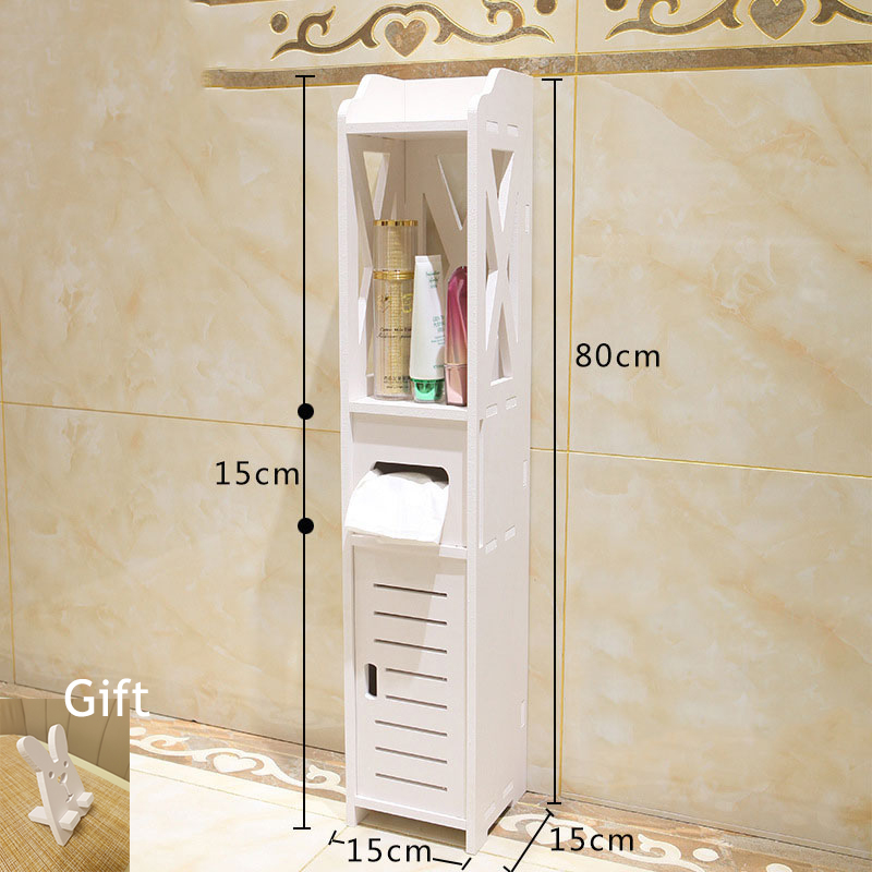 Bathroom Vanity Floor Standing Shelf Storage Cabinet Washbasin Shower Corner Shelf Sundries Home Furniture Storage Racks