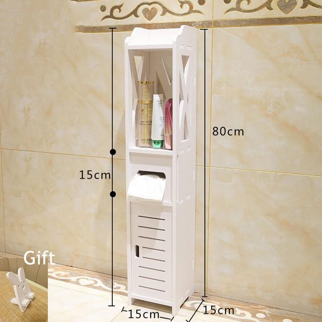 Bathroom Vanity Floor Standing Shelf Storage Cabinet Washbasin Shower Corner Shelf Sundries Home Furniture Storage Racks