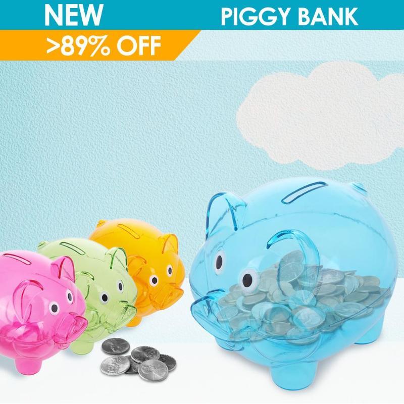 Cartoon Pig Shaped Saving Pot Piggy Bank Money Coin Saving Box for Children Kids