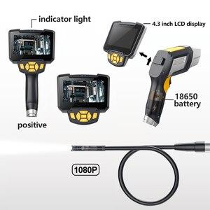 Image 4 - Antscope endoscópio industrial 1080 p hd câmera de inspeção para ferramentas de reparo automóvel cobra handheld duro 4.3 polegada lcd wifi borescope