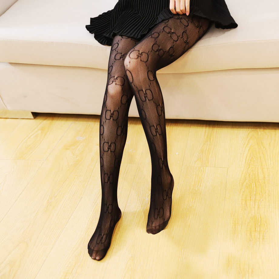 2020 Women's Fishnet Pantynose Big GG Letter Brocade Pattern Design Tights Sexy Female Lingerie Club Party Hosiery Slim Stocking|Tights| - AliExpress