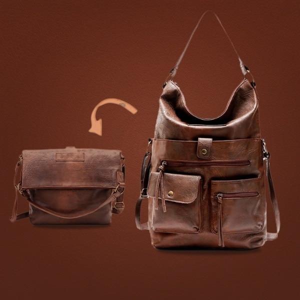 US $16.32 36% СКИДКА|Женская сумка через плечо, из искусственной кожи, для ноутбука 14 дюймов|Сумки с ручками| |  - AliExpress