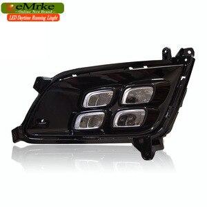 Image 3 - EEMRKE Car LED DRL For Kia Optima K5 TF 2014 2015 Xenon White Day Light Fog Cover Daytime Running Lights Fog Lamp Assembly