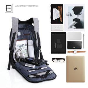 Image 3 - Homem impermeável anti roubo mochilas portátil modernista olhar resistente à água com porta de carregamento usb 15.6 notebook viagem mochila