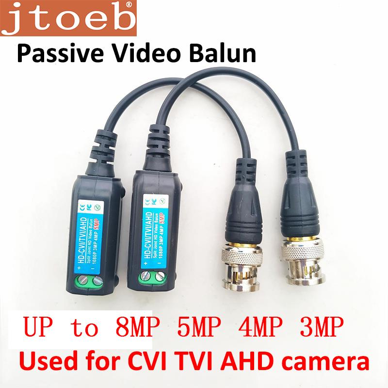 8mp 5mp 4mp 3mp Passive Video Balun HD-CVI/TVI/AHD  Support Dahua HDCVI Camera Transmission By UTP CAT5E/6 Cable MAX 400m
