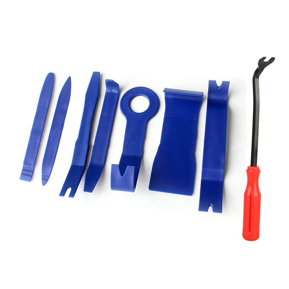 8pcs/set Trim Removal Tool Set Hard Plastic Auto Car Interior Dash Radio Audio Door Clip Panel Trim Open Removal Tools Drop Ship