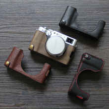 Hand Made Cowhide Fujifilm X100V Leather Case Fuji X100v Leather Case X-100v Protective Case