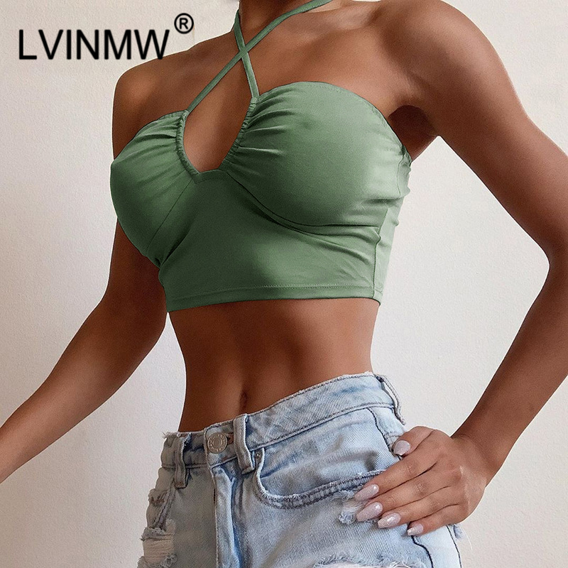 Lace Up Bow Halter Crop Top 2