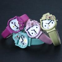 Liebevolles Herz Kitty Kopie Damen Rose Gold Quarz Uhr Weibliche Gürtel Uhr mode Koreanische Strass Damen Business armbanduhr