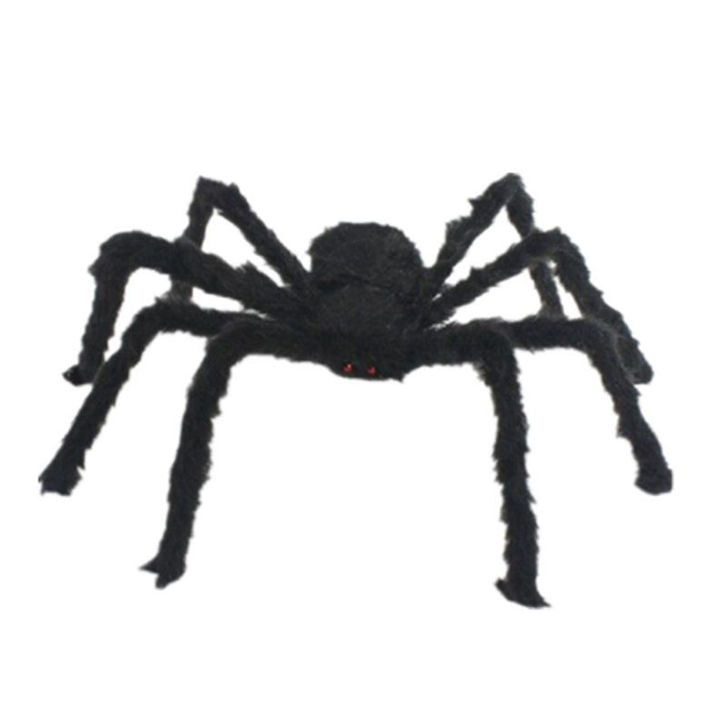 59 Inch Giant Black Spider Halloween Party Decorations Supplies Realistic Props