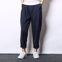 MRMT, брендовые летние новые свободные мужские брюки, льняные повседневные брюки, хлопковые льняные брюки для мужчин, брюки от Harlan