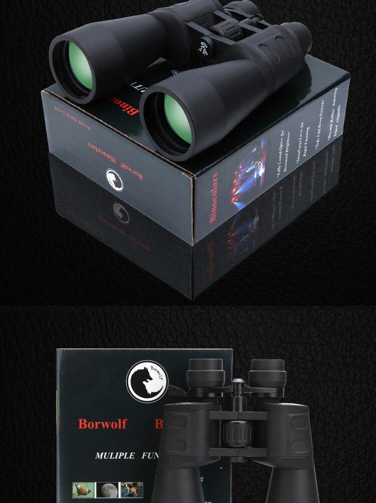 Borwolf 10-60 vezes alta ampliação hd profissional