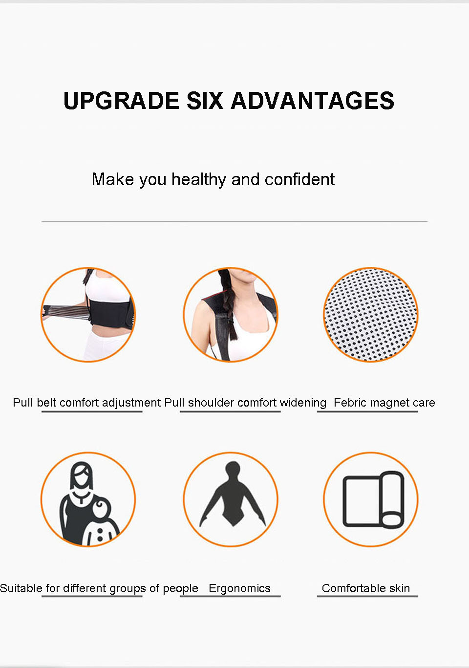 Tourmaline Self Heating Posture Corrector Belt with Nano Infrared Acupuncture Dot Matrix  to Support Spine and Shoulder Helps to Relieve Pain in Back and Joints 13