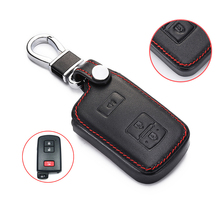 Leather Car Key Cover Case For Toyota Auris Camry RAV4 Avalon Yaris Verso Highlander Land Cruiser Corolla Prius Remote Cover brand new for car ac compressor control valve toyota avalon camry corolla highlander rav4 5se09c 5se12c