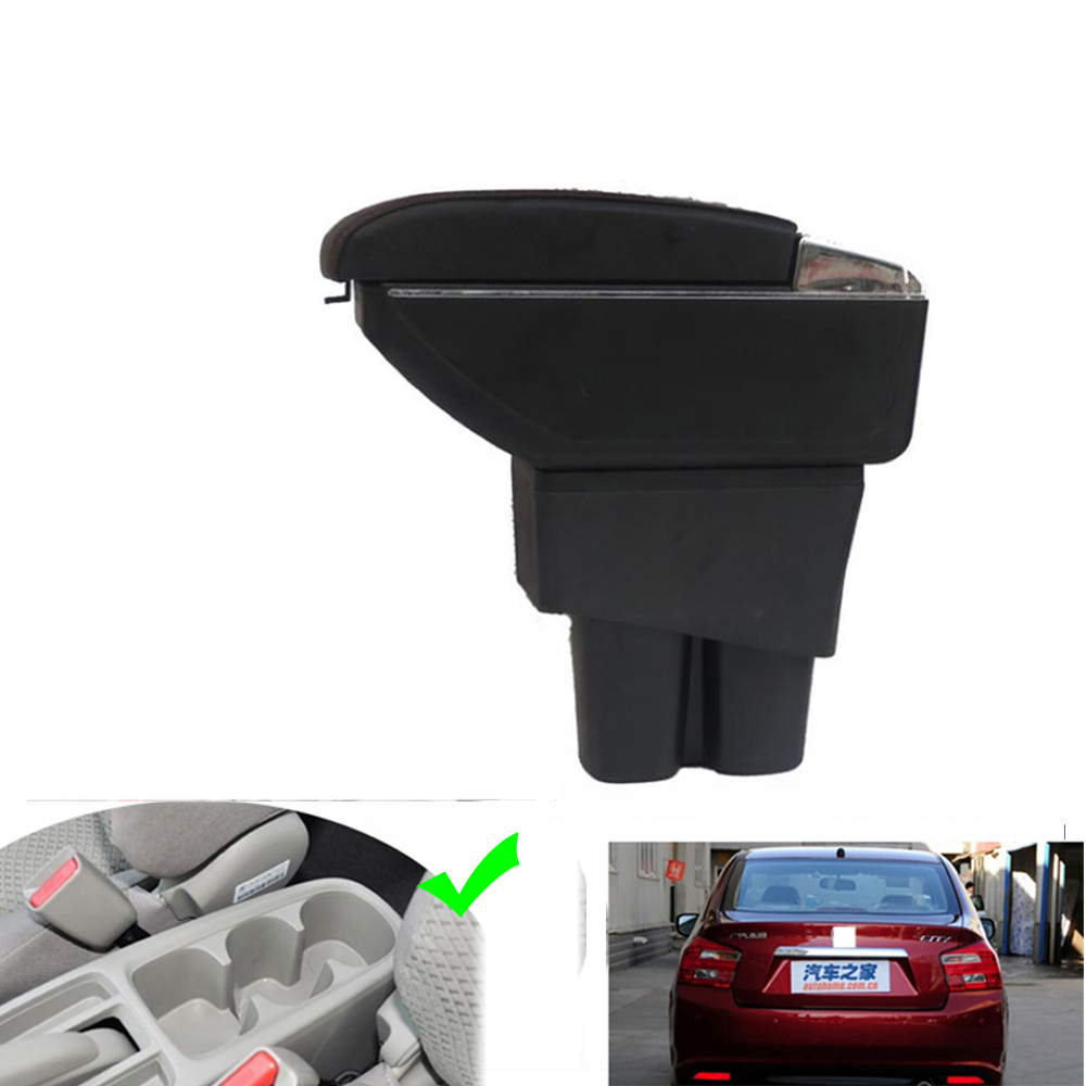 For Honda City 2009 2010 2011 2012 2013 2014 Armrests with USBLeather Car Center Console Armrests Storage Box-in Armrests from Automobiles & Motorcycles on AutoSunShine Store