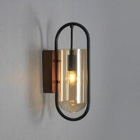 Nordic Kupfer LED Wand Lampen Glas Wandlampen Bad Spiegel Leuchte Schlafzimmer Nacht Korridor Gang Studyroom Wand Licht