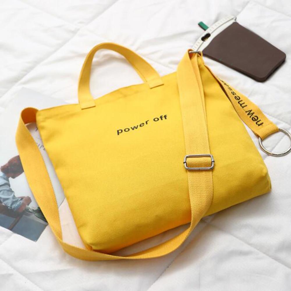1PC Simple Fashion Canvas Shoulder Bag Casual Crossbody Bag School Bag Handbag Large Storage Travel Tote School-bags-for-girls