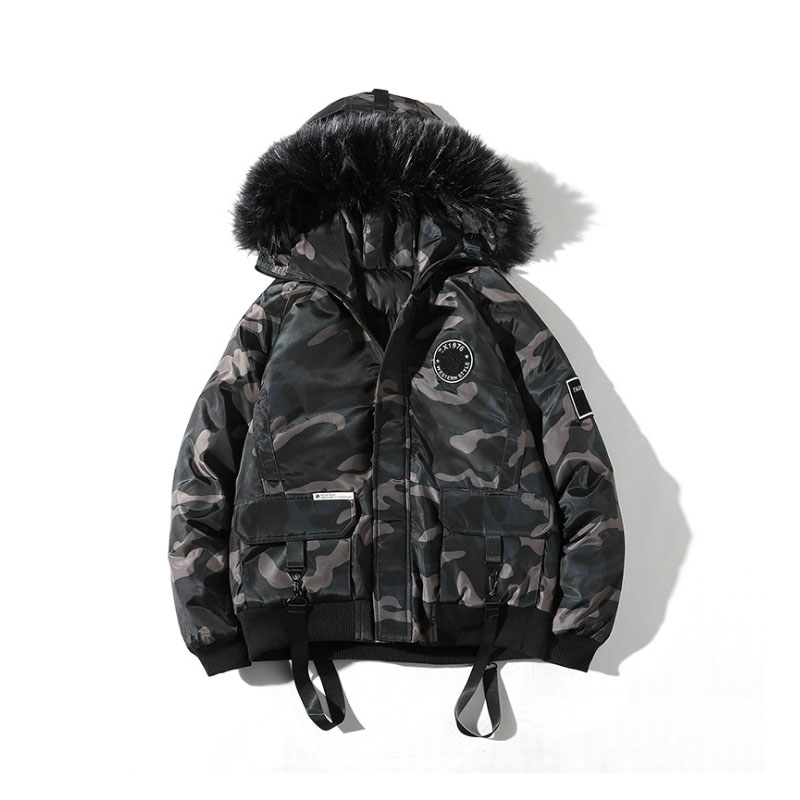 New Fashion Hot Brand Winter Jacket Men 2019 New   Parka   Coat Men Overseas Fur Hood Male Jacket Cold Casual Parks S-3XL