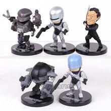 Мини-фигурки RoboCop из ПВХ, Коллекционная модель, игрушки, фигурки, 5 шт./компл.