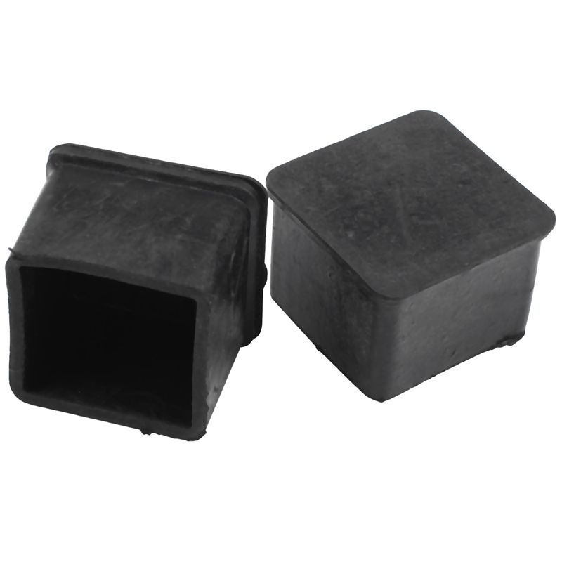 Furniture Chair Square Leg Protector Soft PVC Foot Black