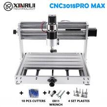CNC 3018pro מקס GRBL בקרת 200w 3 ציר pcb כרסום מכונת, DIY עץ נתב תמיכה לייזר חריטה