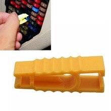 Горячая Распродажа 2 шт. желтый предохранитель съемник автомобильный предохранитель клип инструменты для автомобиля предохранитель