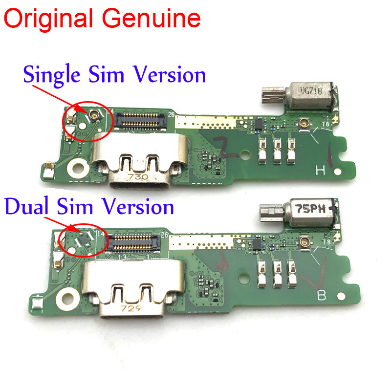 10 Pcs New For Sony Xperia XA1 G3121 G3125 G3112 Charging Port Flex Cable USB Connector Dock With Vibrator Flex Cable Repart