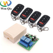 433MHz Wireless Universal Remote Control AC 220V 10A 2CH rf Relay Receiver and Transmitter for remote light/ Bulb/ Motor switch