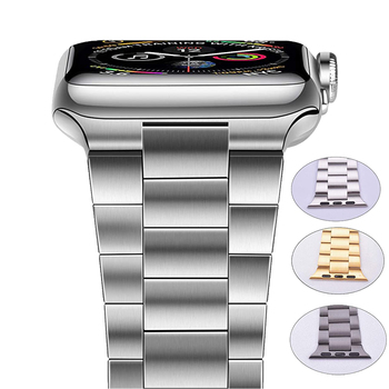 for apple watch band 6 se 5 4 38 42mm stainless steel strap for iwatch loop 40 44mm for apple bands 3 2 1 sport watches bracelet Stainless Steel Bands For Apple Watch SE 6 5 4 3 2 1 Band 38mm 42mm Bracelet Sport WatchBand for iWatch series 5 4 3/2 40mm 44mm